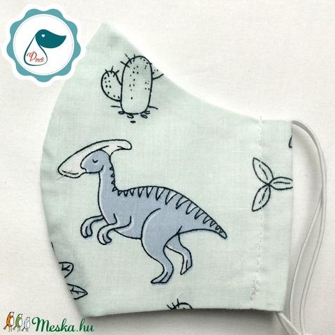 Egyedi szájmaszk - dinoszauruszos gyerek szájmaszk - textil szájmaszk - egészségügyi szájmaszk - mosható szájmaszk (Pindiart) - Meska.hu