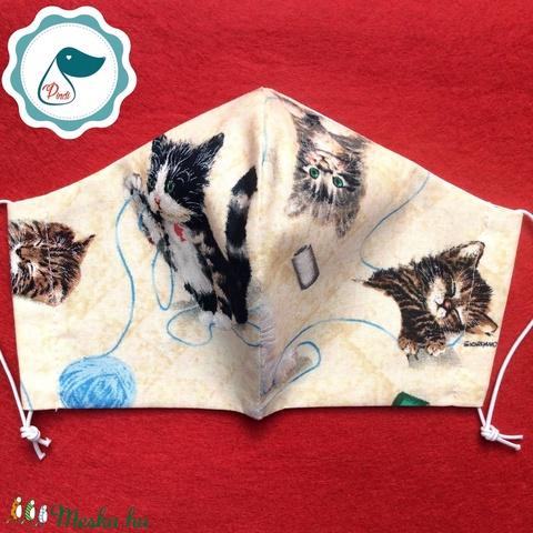 Egyedi szájmaszk - cicás felnőtt női és teenager szájmaszk - textil szájmaszk - egészségügyi szájmaszk (Pindiart) - Meska.hu