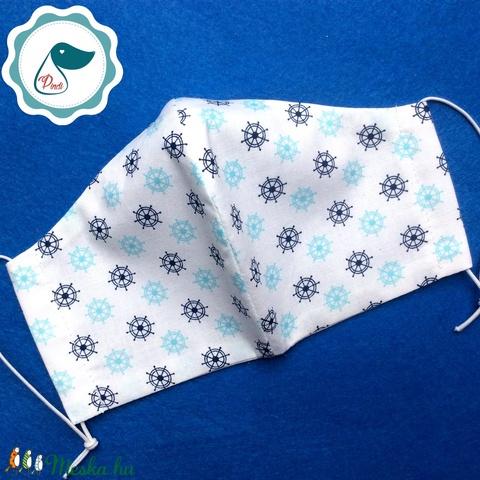 Egyedi szájmaszk - Tengerészes női szájmaszk - textil szájmaszk - egészségügyi szájmaszk (Pindiart) - Meska.hu
