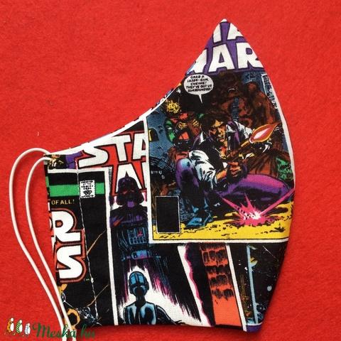 Egyedi szájmaszk -Star wars - férfi  szájmaszk - textil szájmaszk - egészségügyi szájmaszk (Pindiart) - Meska.hu