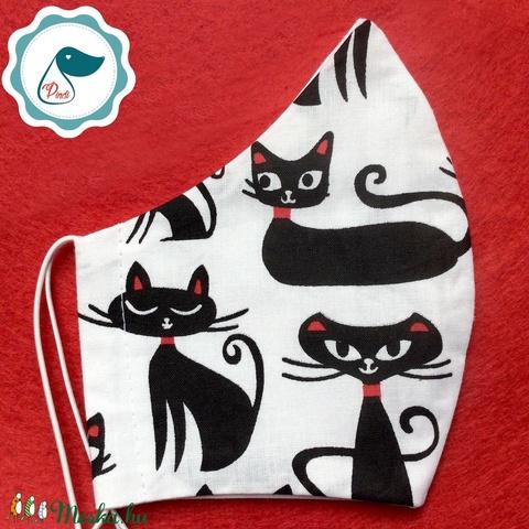 Egyedi arcmaszk - cica mintás felnőtt női és teenager maszk - textil szájmaszk - egészségügyi szájmaszk (Pindiart) - Meska.hu