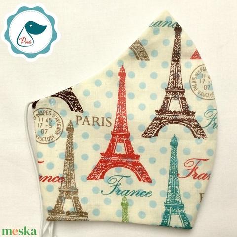 Egyedi Paris mintás kiskamasz - textil arcmaszk - egészségügyi maszk - mosható szájmaszk - Meska.hu