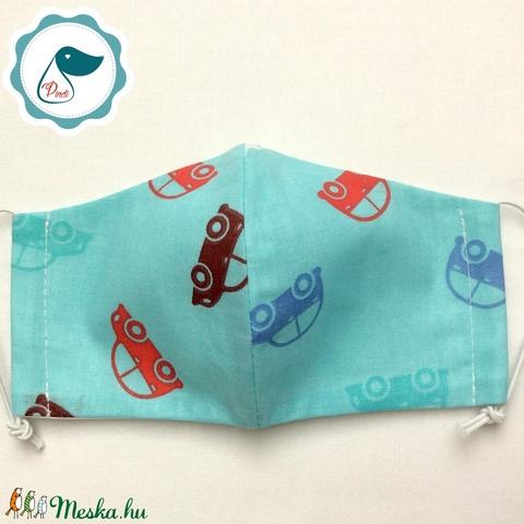 Egyedi autó mintás - gyerek szájmaszk - textil szájmaszk - egészségügyi szájmaszk - mosható szájmaszk (Pindiart) - Meska.hu