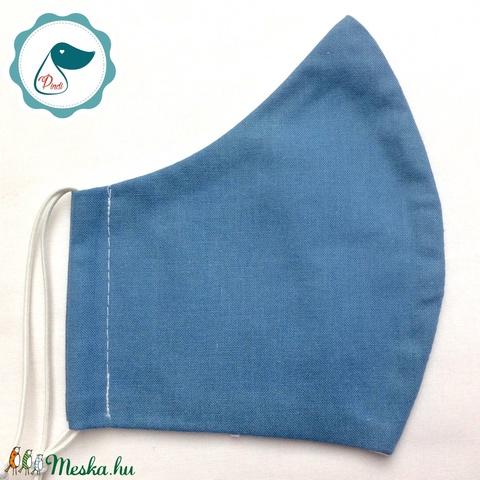 Egyedi szájmaszk - kék férfi szájmaszk - textil szájmaszk - egészségügyi szájmaszk (Pindiart) - Meska.hu