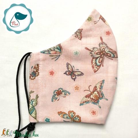 Egyedi pillango mintás - kiskamasz arcmaszk - textil maszk - egészségügyi szájmaszk - mosható szájmaszk - maszk, arcmaszk - Meska.hu