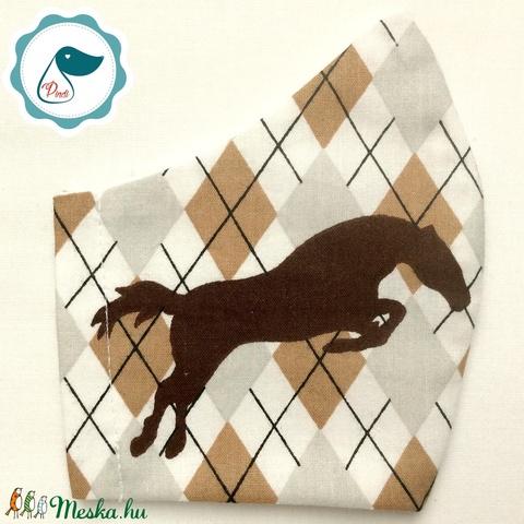 Egyedi ló mintás - kiskamasz szájmaszk - textil szájmaszk - egészségügyi szájmaszk - mosható szájmaszk (Pindiart) - Meska.hu