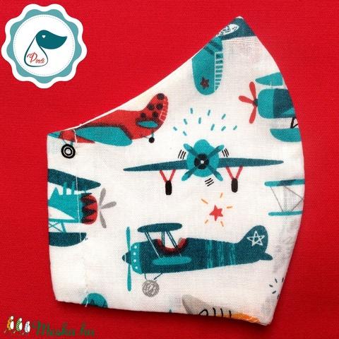 Egyedi repülő mitás - gyerek szájmaszk - textil szájmaszk - egészségügyi szájmaszk - mosható szájmaszk (Pindiart) - Meska.hu