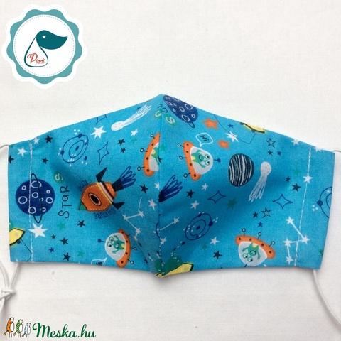 Egyedi bolygó mintás -  gyerek szájmaszk - textil szájmaszk - egészségügyi szájmaszk - mosható szájmaszk (Pindiart) - Meska.hu
