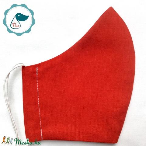 Egyedi szájmaszk -piros férfi szájmaszk - textil szájmaszk - egészségügyi szájmaszk - Meska.hu