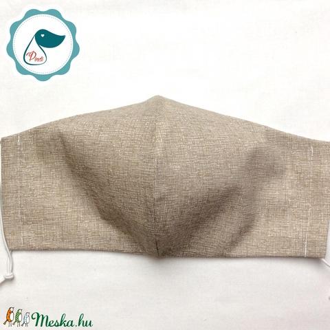 Egyedi szájmaszk - férfi drapp szájmaszk - textil szájmaszk - egészségügyi szájmaszk (Pindiart) - Meska.hu