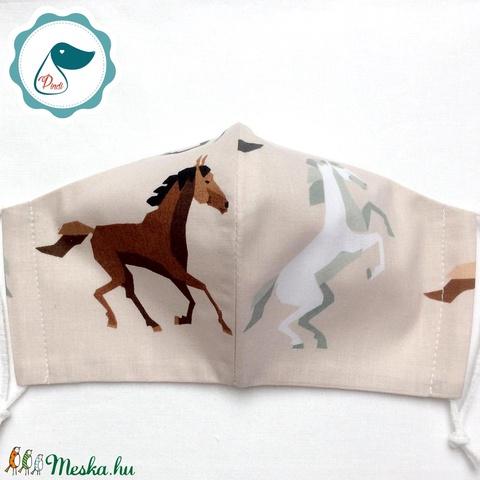 Egyedi ló mintás - felnőtt női és teenager szájmaszk - textil szájmaszk - egészségügyi szájmaszk (Pindiart) - Meska.hu