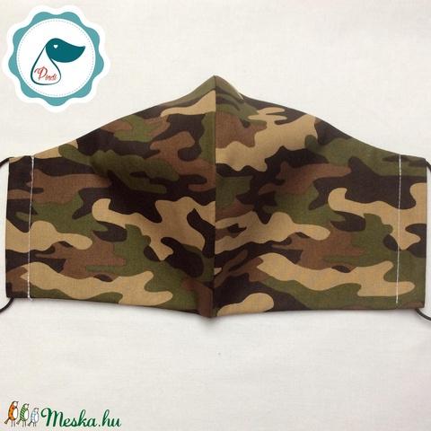 Egyedi terep mintás - kiskamasz szájmaszk - textil szájmaszk - egészségügyi szájmaszk - mosható szájmaszk (Pindiart) - Meska.hu