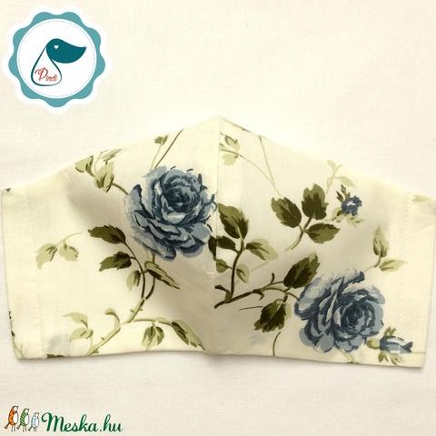 Egyedi  rózsa mintás - felnőtt női és teenager szájmaszk - textil szájmaszk - egészségügyi szájmaszk (Pindiart) - Meska.hu