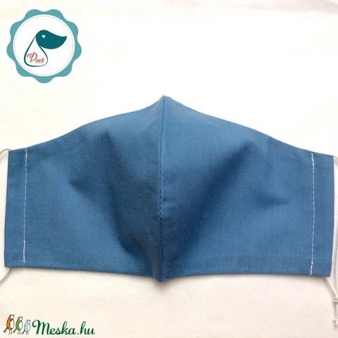 Egyedi kék női és teenager arcmaszk - textil maszk - egészségügyi szájmaszk (Pindiart) - Meska.hu