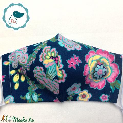 Egyedi virág mintás - felnőtt női és teenager szájmaszk - textil szájmaszk - egészségügyi szájmaszk (Pindiart) - Meska.hu