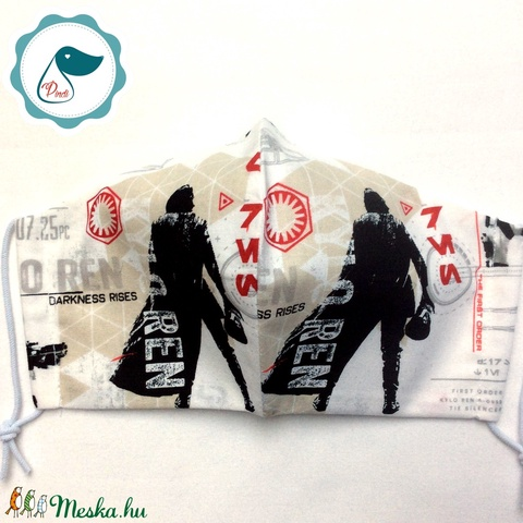 Egyedi star wars mintás - felnőtt női és teenager szájmaszk - textil szájmaszk - egészségügyi szájmaszk (Pindiart) - Meska.hu