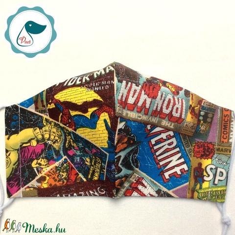 Egyedi szuperhősök mintás - felnőtt női és teenager szájmaszk - textil szájmaszk - egészségügyi szájmaszk (Pindiart) - Meska.hu