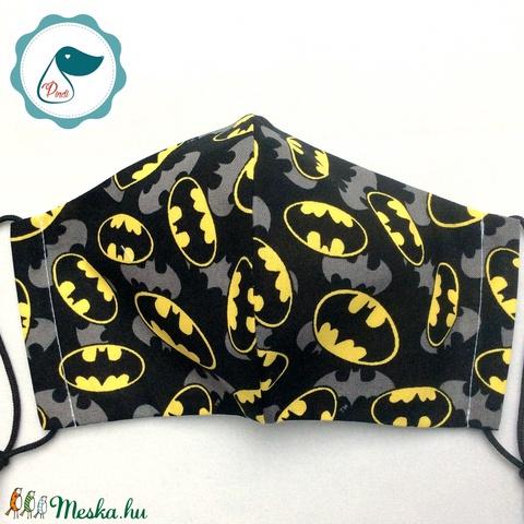 Egyedi batman logo mintásarcmaszk - kiskamasz  textil maszk - egészségügyi szájmaszk - mosható szájmaszk (Pindiart) - Meska.hu