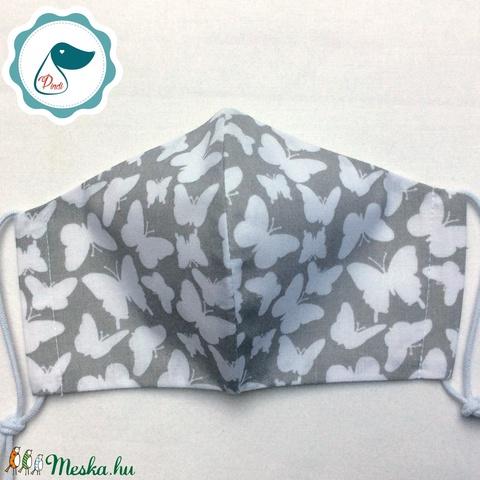 Egyedi pillangó mintás - felnőtt női és teenager szájmaszk - textil szájmaszk - egészségügyi szájmaszk (Pindiart) - Meska.hu