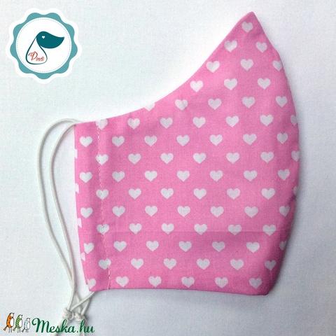 Egyedi szív mintás maszk - kiskamasz arcmaszk - textil szájmaszk - egészségügyi szájmaszk - mosható szájmaszk (Pindiart) - Meska.hu