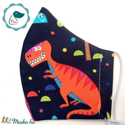 Egyedi dinoszaurusz mintás - kiskamasz szájmaszk - textil szájmaszk - egészségügyi szájmaszk - mosható szájmaszk (Pindiart) - Meska.hu