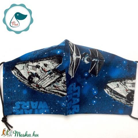 Egyedi star wars mintás - felnőtt női és teenager - textil szájmaszk - egészségügyi szájmaszk (Pindiart) - Meska.hu