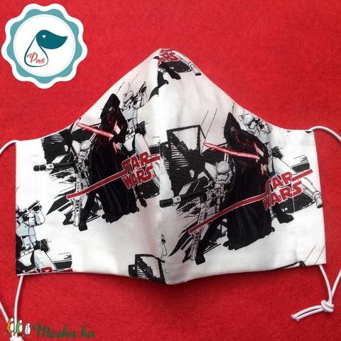 Szájmaszk star wars mintás  maszk - felnőtt női és teenager - textil arcmaszk - egészségügyi szájmaszk (Pindiart) - Meska.hu