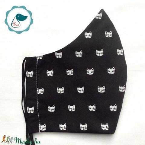 Egyedi cicás arcmaszk - férfi maszk - textil szájmaszk - egészségügyi szájmaszk (Pindiart) - Meska.hu