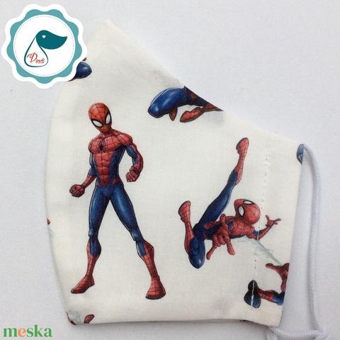 Egyedi  pókemberes maszk - kiskamasz  marvel arcmaszk - textil szájmaszk - egészségügyi szájmaszk - mosható szájmaszk (Pindiart) - Meska.hu
