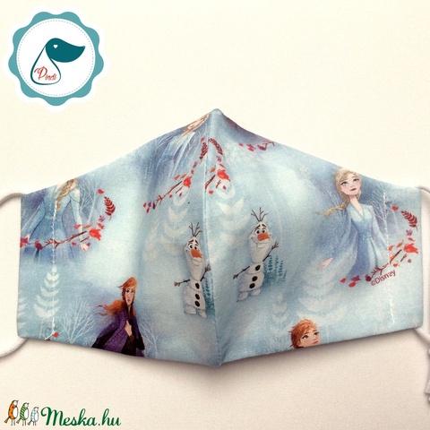 Egyedi - Jégvarázsos maszk - gyerek arcmaszk - textil szájmaszk - egészségügyi szájmaszk - mosható szájmaszk (Pindiart) - Meska.hu