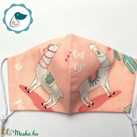 Egyedi lámás maszk - kiskamasz arcmaszk - prémium textil szájmaszk - egészségügyi szájmaszk - mosható szájmaszk - Meska.hu