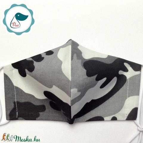 Egyedi terep mintás maszk - kiskamasz arcmaszk - Dinós textil szájmaszk - egészségügyi szájmaszk - mosható szájmaszk - Meska.hu