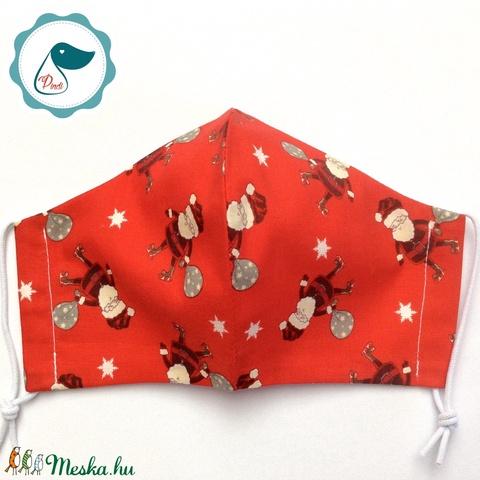 Egyedi karácsonyi maszk - felnőtt női és teenager arcmaszk - textil szájmaszk - egészségügyi szájmaszk (Pindiart) - Meska.hu