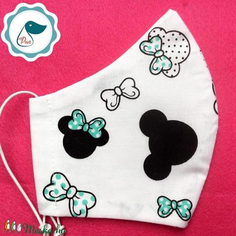 Egyedi mikiegér mintás kiskamasz - textil arcmaszk - egészségügyi maszk - mosható szájmaszk (Pindiart) - Meska.hu
