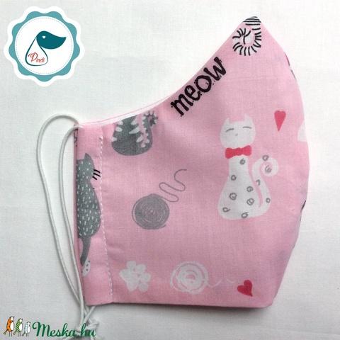 Egyedi cicás maszk - kiskamasz szájmaszk - textil szájmaszk - egészségügyi szájmaszk - mosható szájmaszk (Pindiart) - Meska.hu
