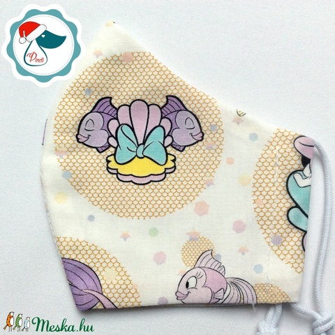 Egyedi Mikiegér mintás maszk - gyerek textil arcmaszk - egészségügyi szájmaszk - mosható szájmaszk - Meska.hu