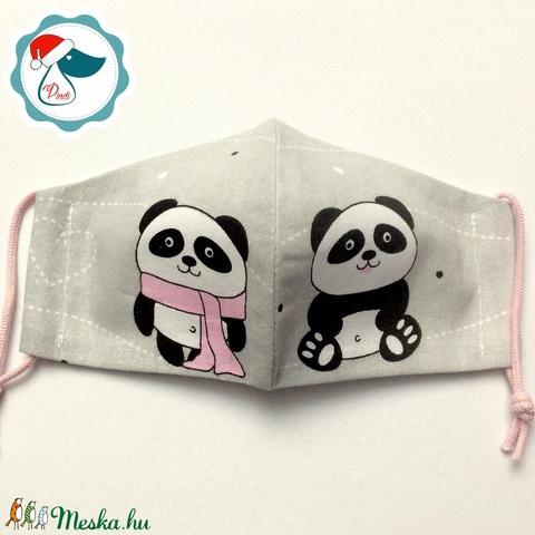 Egyedi pandamacis mintás maszk - gyerek textil arcmaszk - egészségügyi szájmaszk - mosható szájmaszk (Pindiart) - Meska.hu