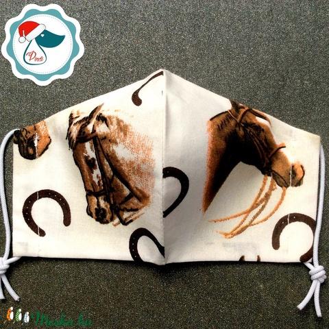 Egyedi lovas maszk - kiskamasz arcmaszk - textil arcmaszk - egészségügyi maszk - mosható szájmaszk (Pindiart) - Meska.hu