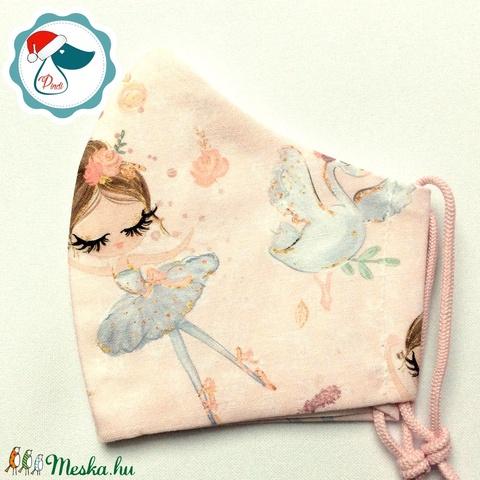 Egyedi ballerinakislány mintás maszk - gyerek textil arcmaszk - egészségügyi szájmaszk - mosható szájmaszk (Pindiart) - Meska.hu