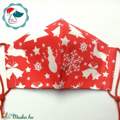 Karácsonyi maszk- felnőtt női és teenager szájmaszk - textil szájmaszk - egészségügyi szájmaszk (Pindiart) - Meska.hu