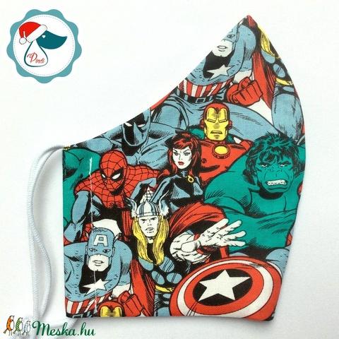 Egyedi Marvel mintás maszk - szuperhősök - felnőtt női és teenager arcmaszk - textil szájmaszk - egészségügyi szájmaszk (Pindiart) - Meska.hu