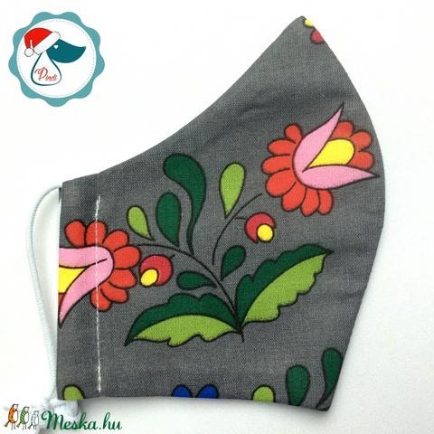 Egyedi  kalocsai mintás - felnőtt női és teenager szájmaszk - textil szájmaszk - egészségügyi szájmaszk - Meska.hu