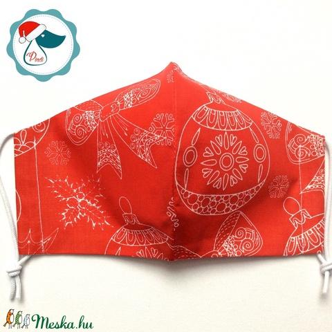 Karácsonyi mintás maszk- felnőtt női és teenager szájmaszk - textil szájmaszk - egészségügyi szájmaszk (Pindiart) - Meska.hu