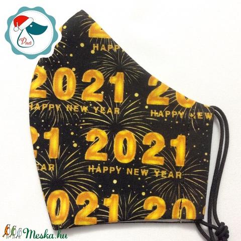 2021 -es maszk női szájmaszk - újévitextil szájmaszk - egészségügyi szájmaszk (Pindiart) - Meska.hu