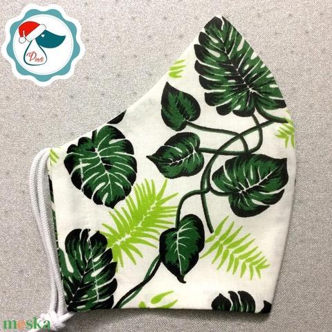 Egyedi pálmalevél mintás maszk  - felnőtt női és teenager arcmaszk - textil szájmaszk - egészségügyi szájmaszk - Meska.hu
