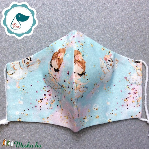 Egyedi balerinás maszk - prémium kiskamasz arcmaszk - textil szájmaszk - egészségügyi szájmaszk - mosható szájmaszk - Meska.hu