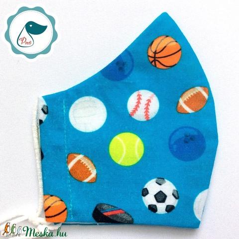 Egyedi labdás maszk - prémium kiskamasz arcmaszk - textil szájmaszk - egészségügyi szájmaszk - mosható szájmaszk - Meska.hu