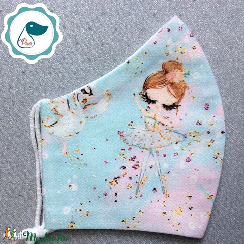 Egyedi balerina lány mintás -  prémium gyerek szájmaszk - textil szájmaszk  - mosható szájmaszk - maszk, arcmaszk - női - Meska.hu