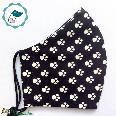 Egyedi mancs mintás maszk - kiskamasz arcmaszk - prémium textil szájmaszk - egészségügyi szájmaszk - mosható szájmaszk - Meska.hu