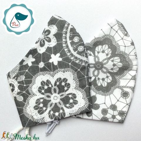 2 db csipke mintás maszk - felnőtt női és teenager szájmaszk - textil szájmaszk - egészségügyi szájmaszk (Pindiart) - Meska.hu